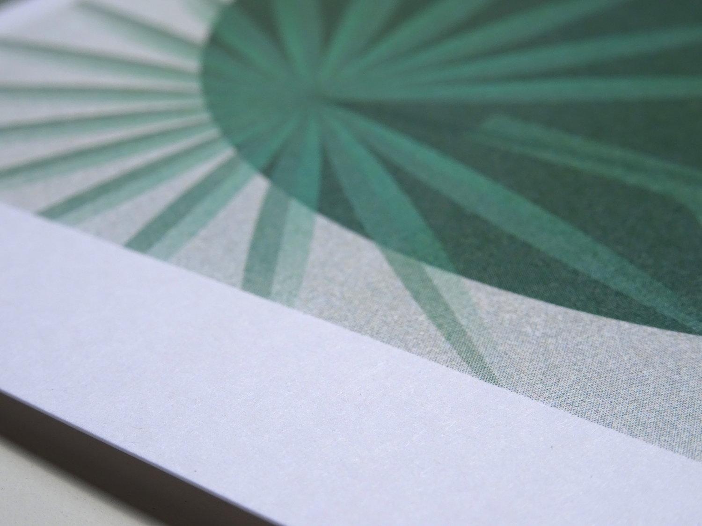 impression sur papier a grain de la plante en pot