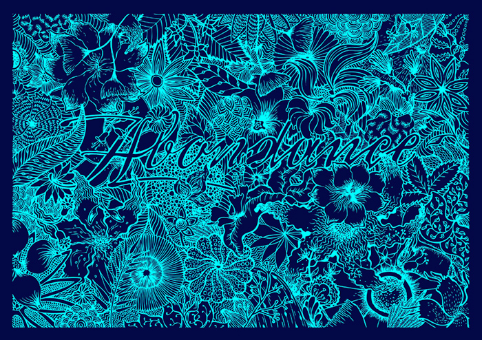 illustration lettering abondance jungle