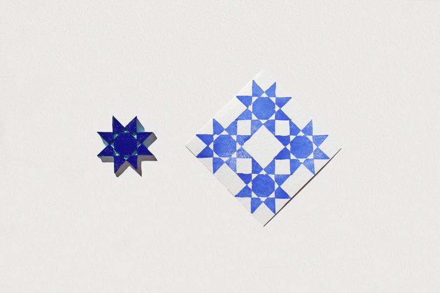 photo d'étoiles tamponnées
