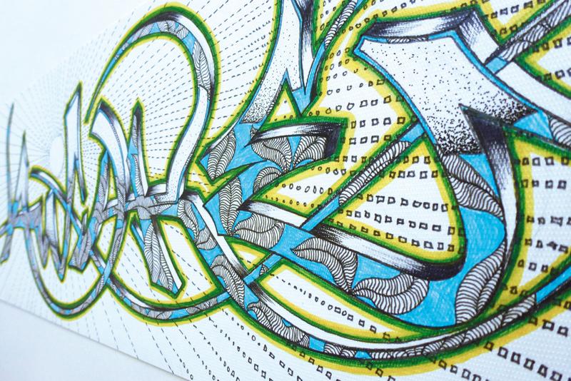 focus dans le graffiti manuel réalisé au feutre