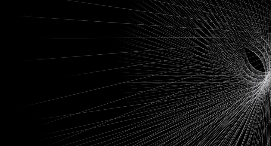 forme géométrique vectorielle sous pointes blanches