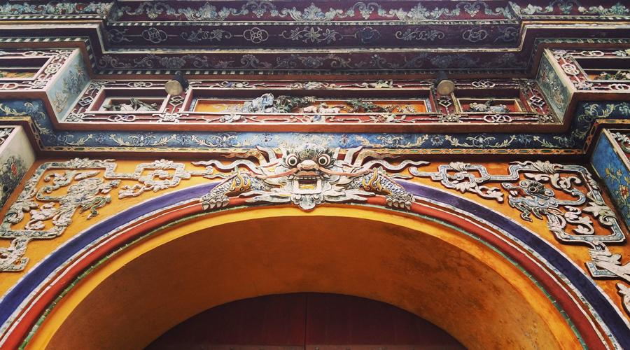 entrée dans la cité impériale interdite de Hué, Vietnam