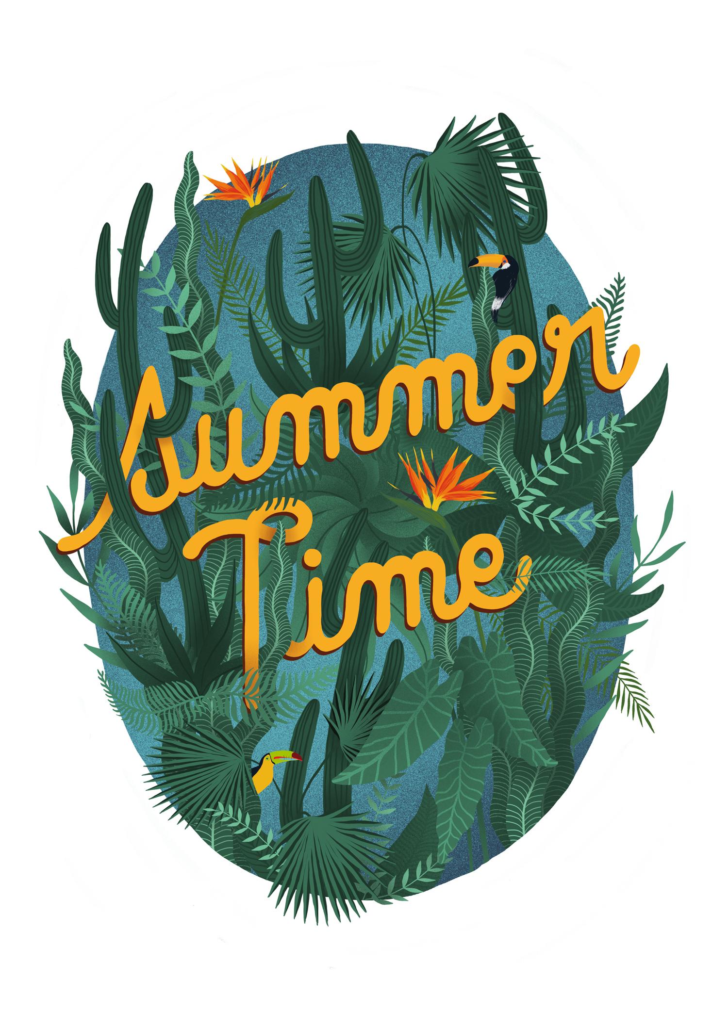 illustration pour le magazine erratum summer time