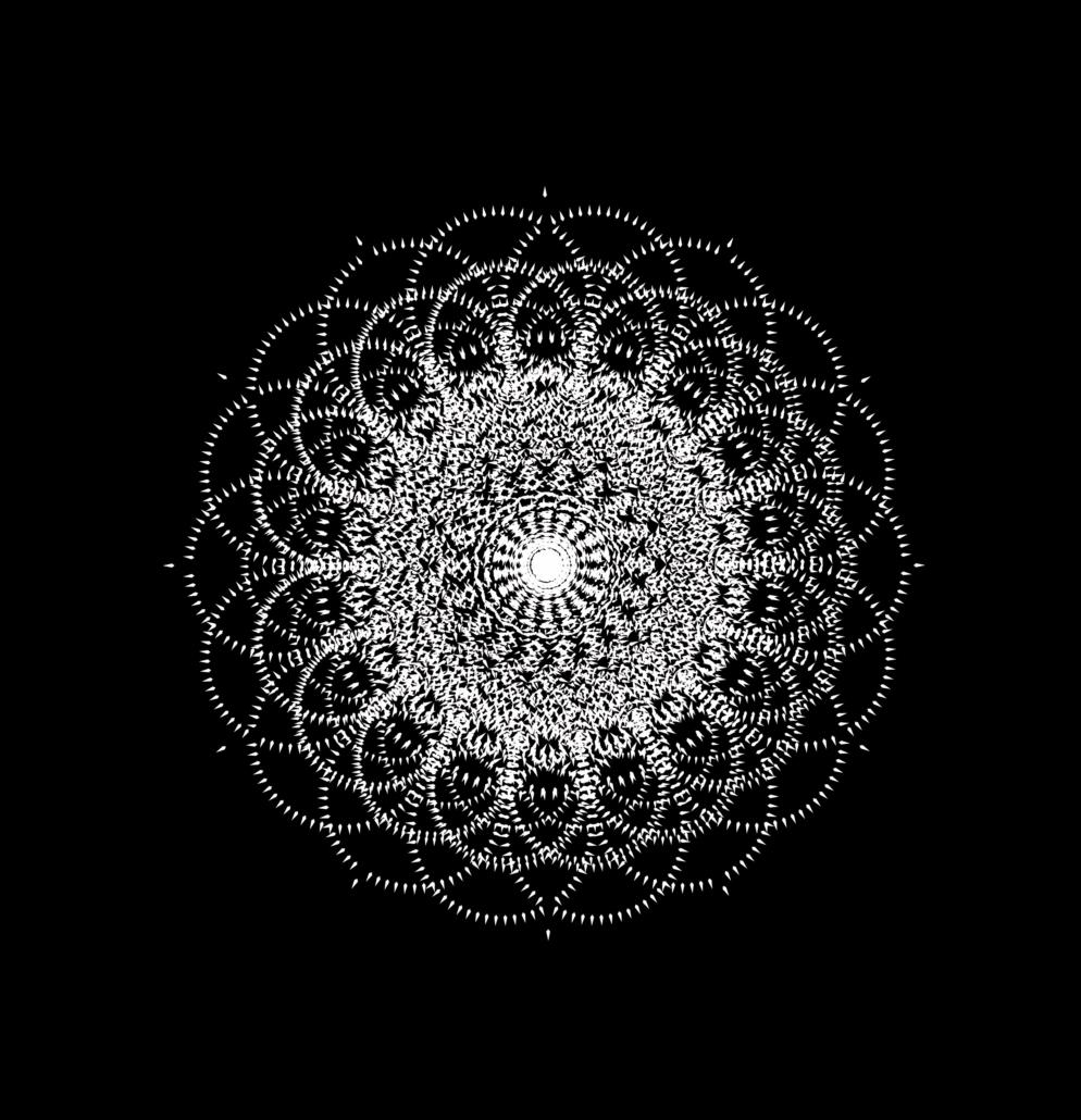 formes de découpe géométriques vectorielles en blanc sur noir