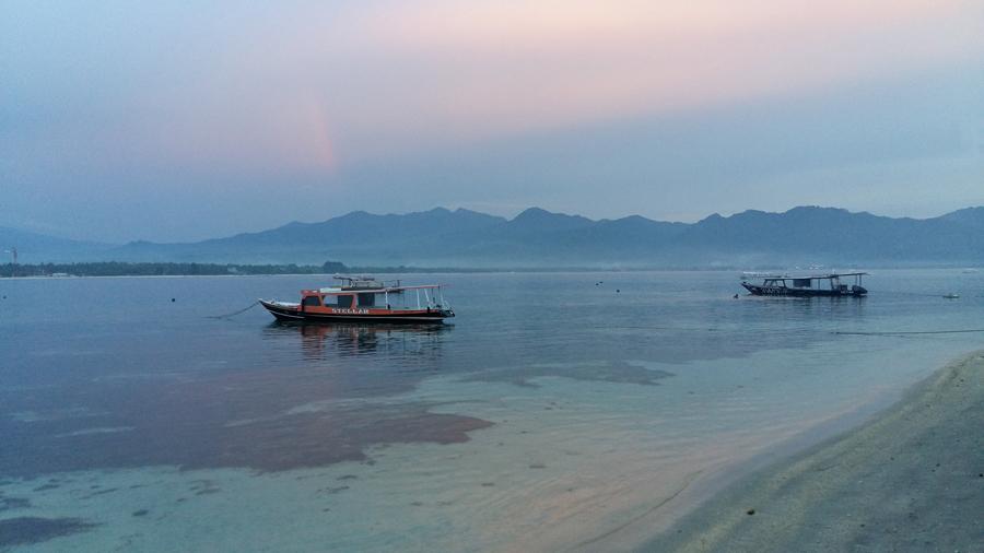 lights of gili Boat, Bali