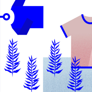 sustainable t-shirt and nature