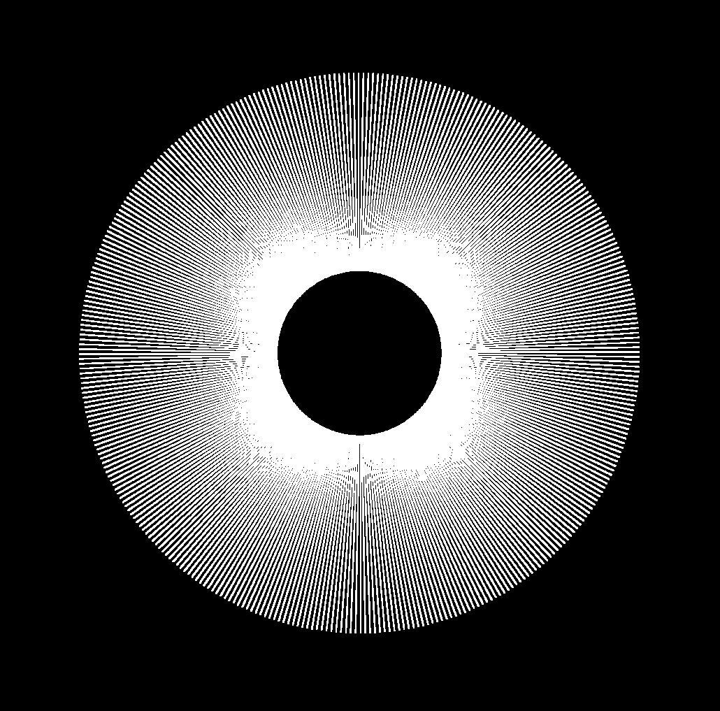 forme géométrique vectorielle du cercle de batons