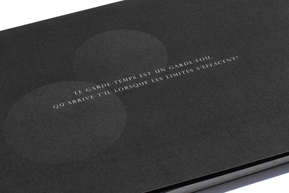 page d'introduction du livre graphique Jaquet Droz