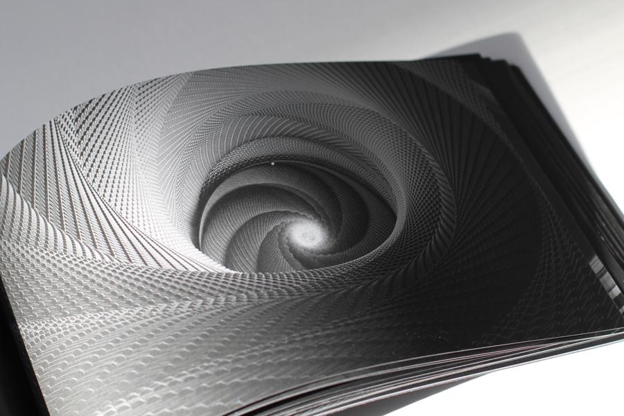 spirale graphique noir et blanc