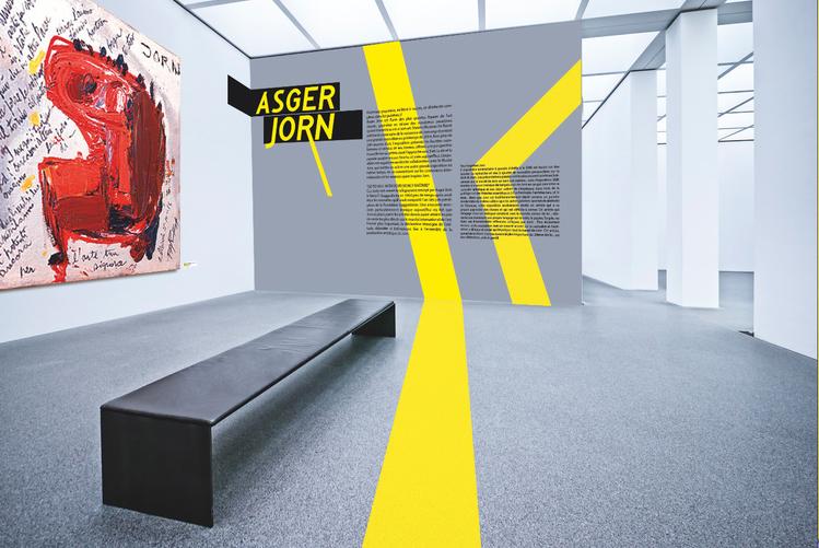 signalétique et identité visuelle de l'exhibition d'Asger Jorn