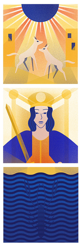 extrait du projet Tarot Cards
