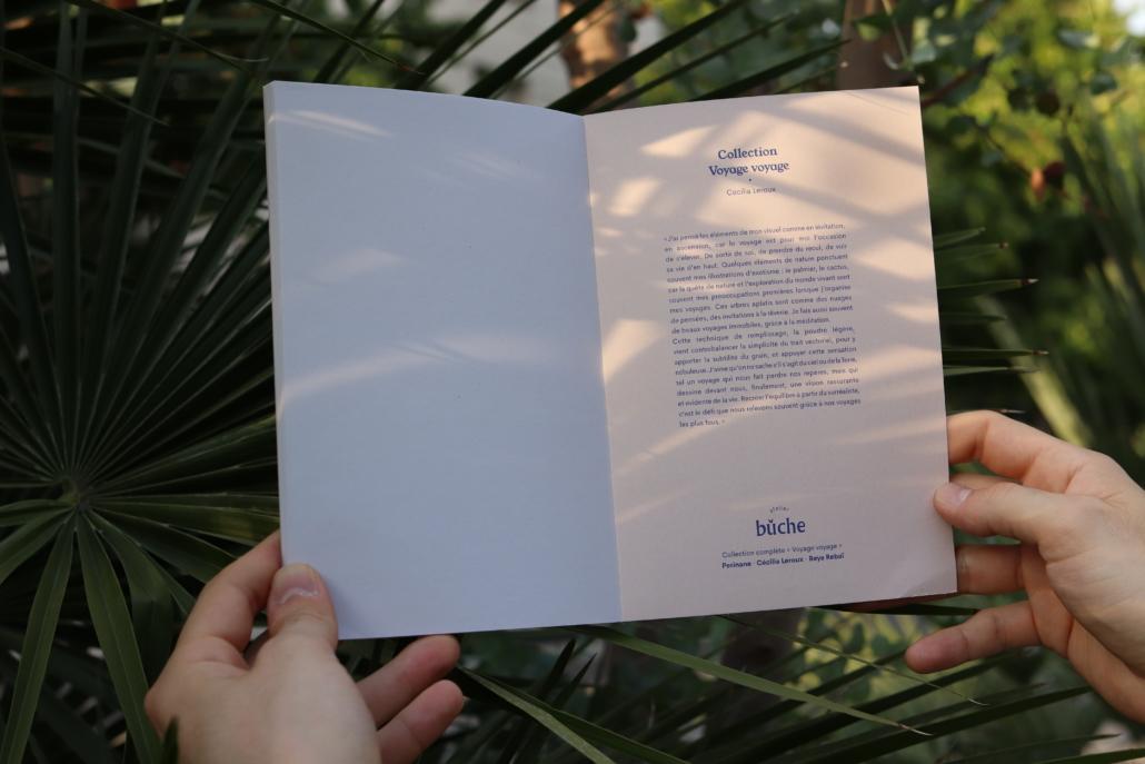 intérieur du carnet collection voyage pris sous le soleil de la jungle