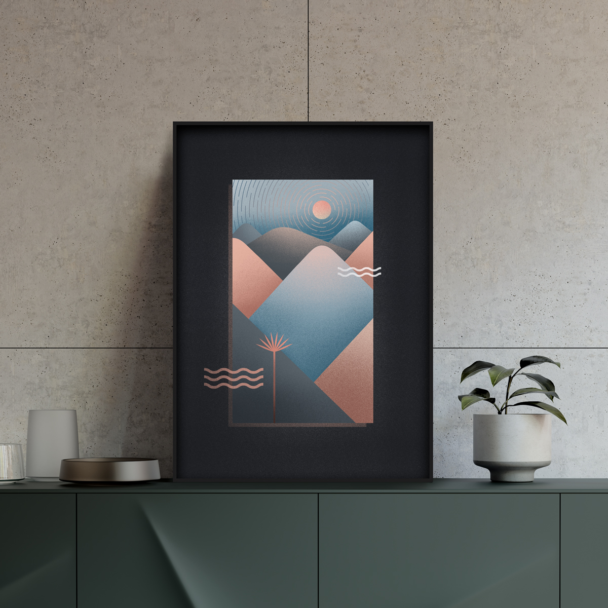 poster horizon couleurs terracotta
