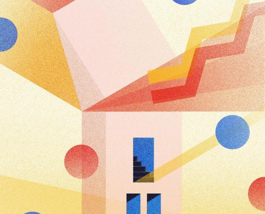 carte de tarot revisitée en illustration vectorielle